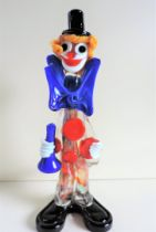 Large Vintage Murano Glass Clown 31cm Tall