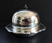 Antique Art Nouveau Silver Plated Muffin Dish/Warmer