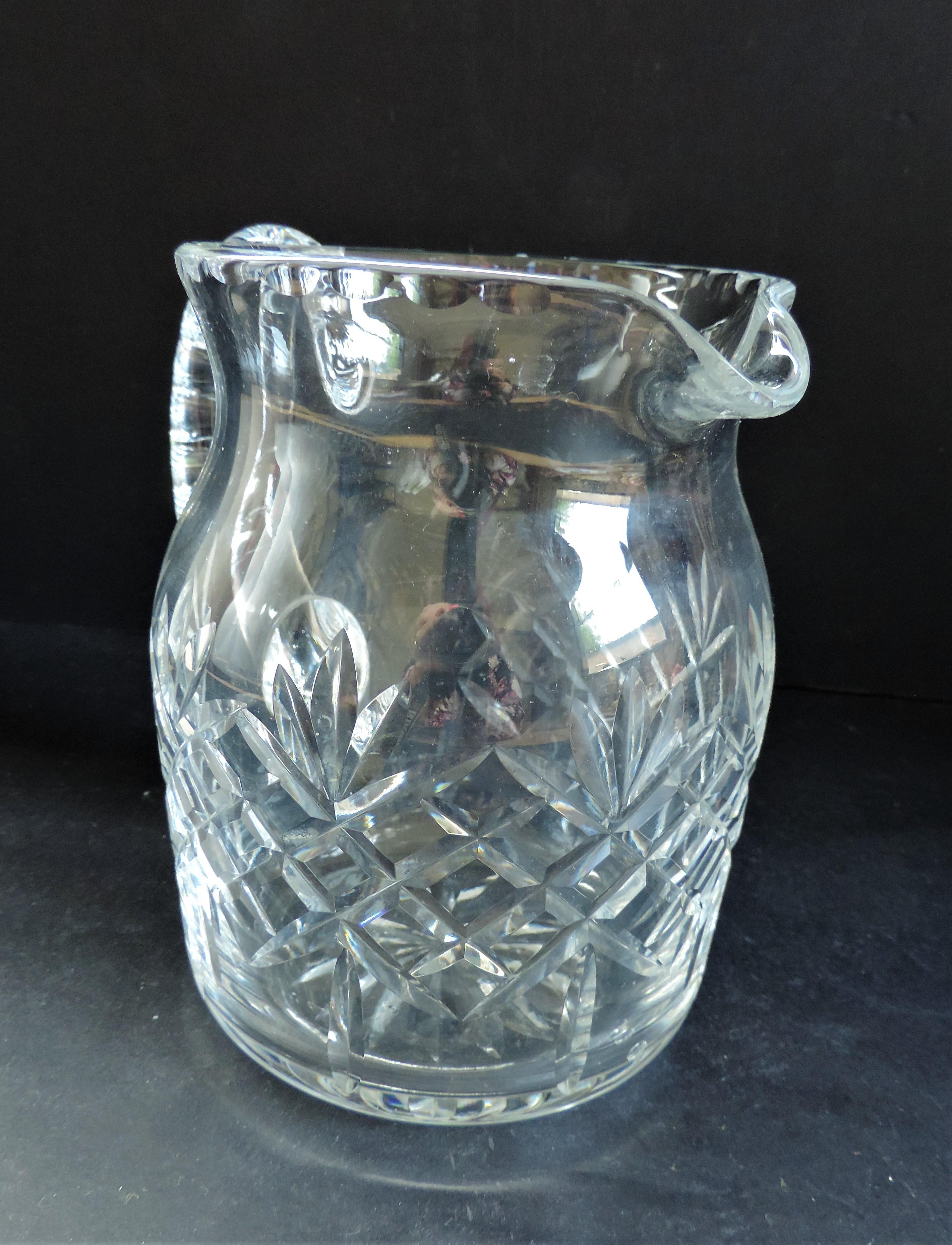 Vintage Crystal Drinks Jug/Pitcher 15cm tall - Image 3 of 5