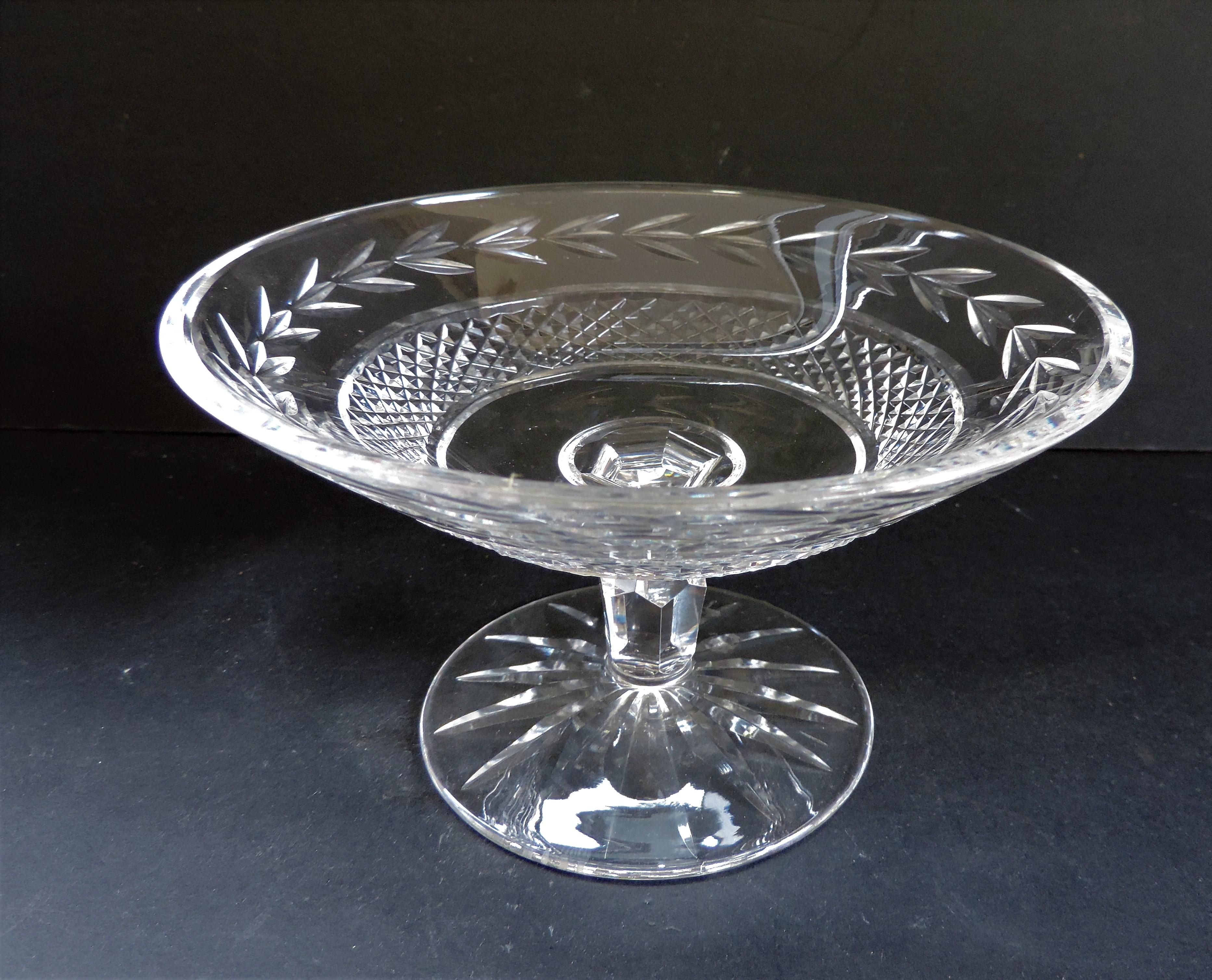 Vintage Val Saint Lambert Crystal Compote Dish