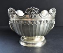 Vintage Silver Plated Bowl Lions Head Handles
