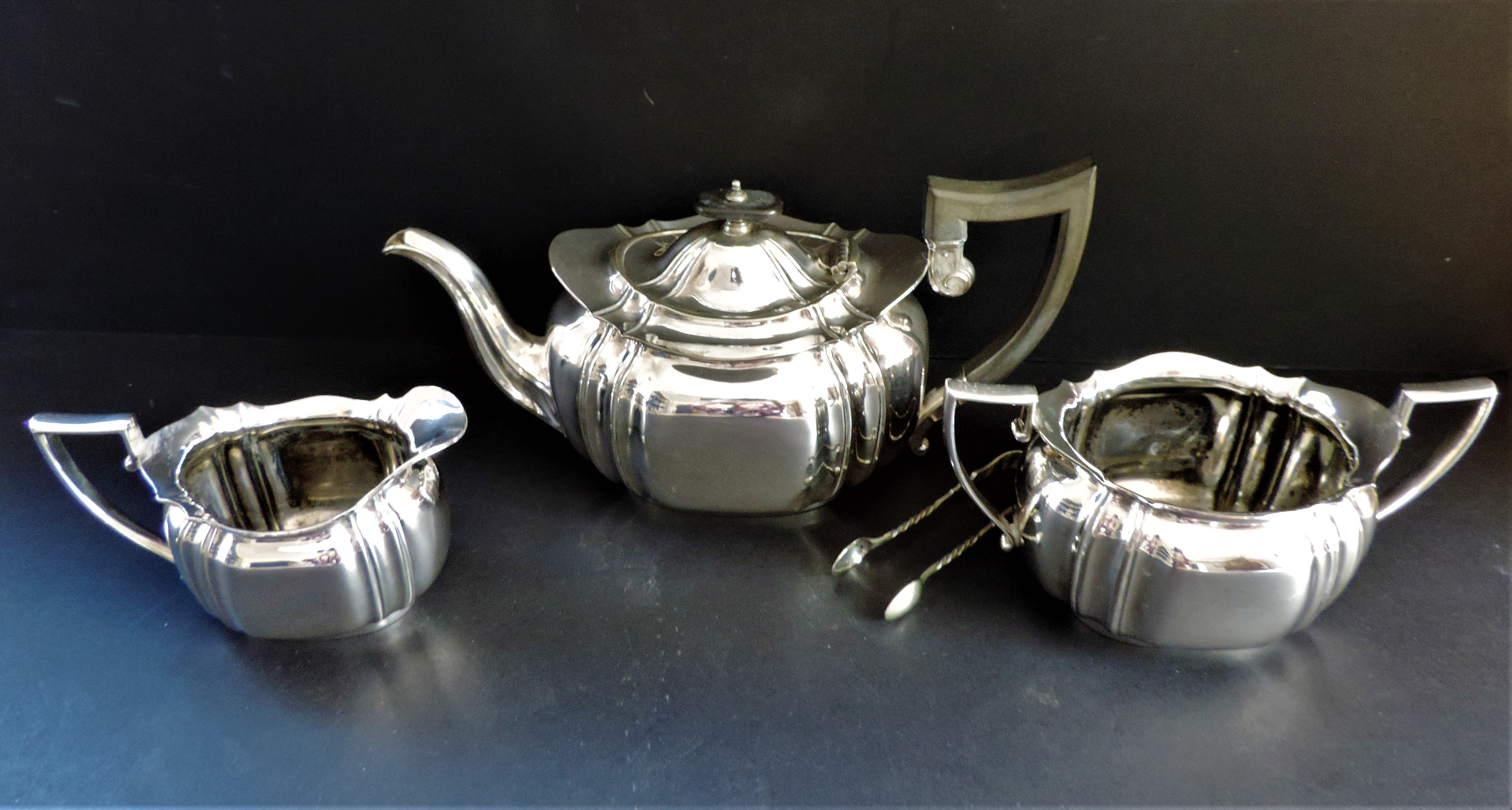 Antique Edwardian 4 Piece Silver Plated Tea Set circa 1900-1910 - Image 2 of 7