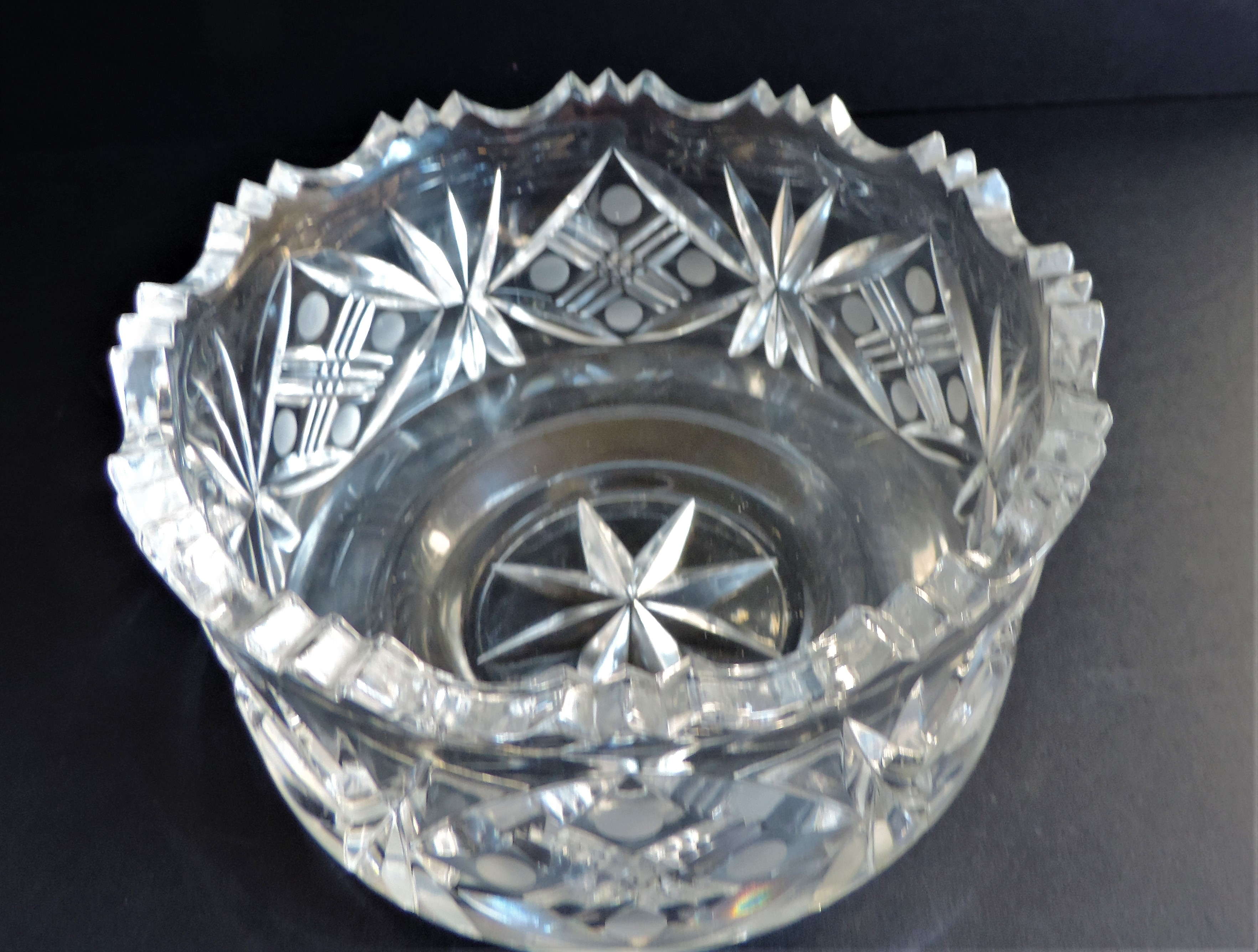 Vintage Bohemian Crystal Bowl - Image 2 of 4