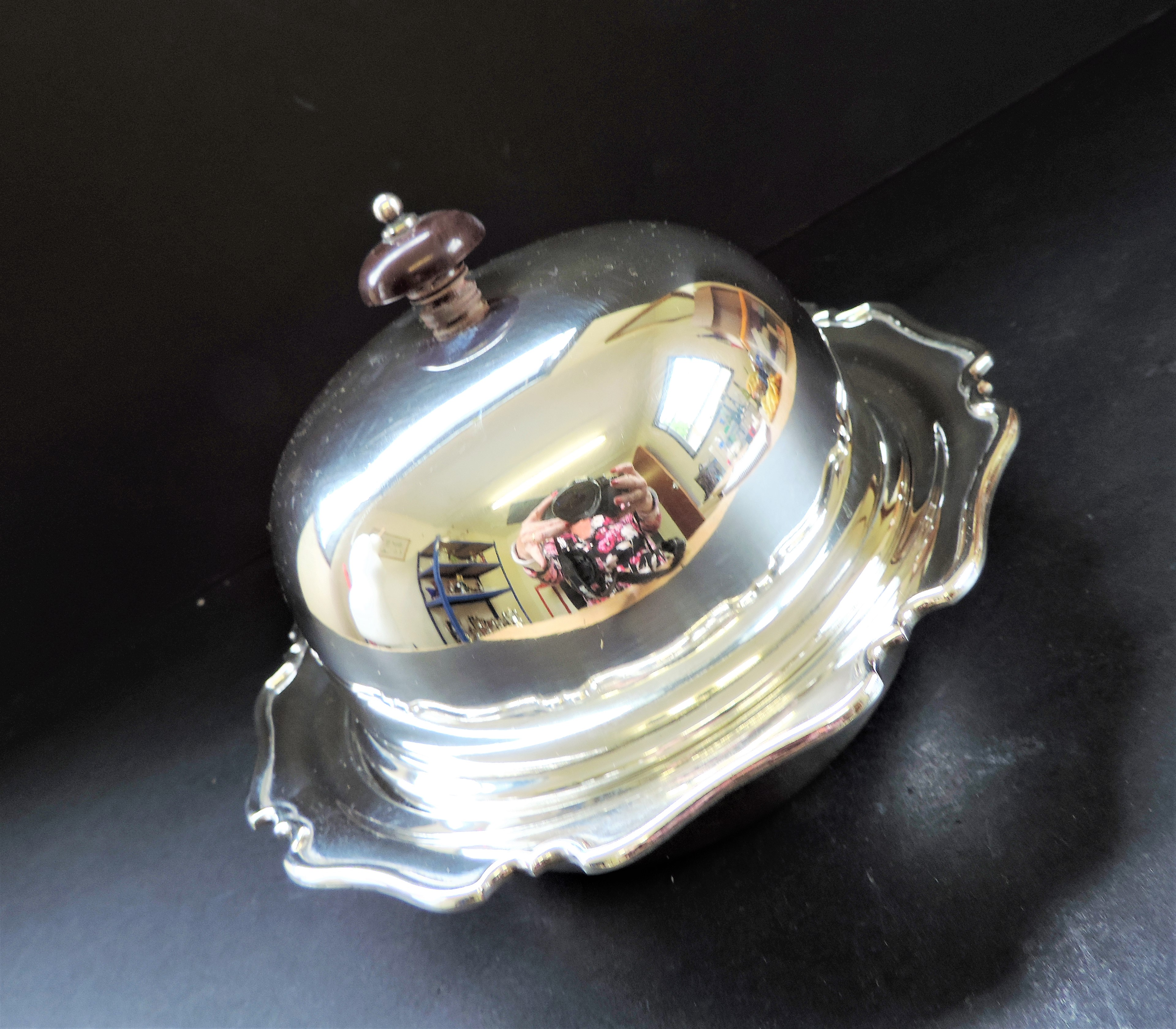 Antique Art Nouveau Silver Plated Muffin Dish/Warmer - Image 6 of 7