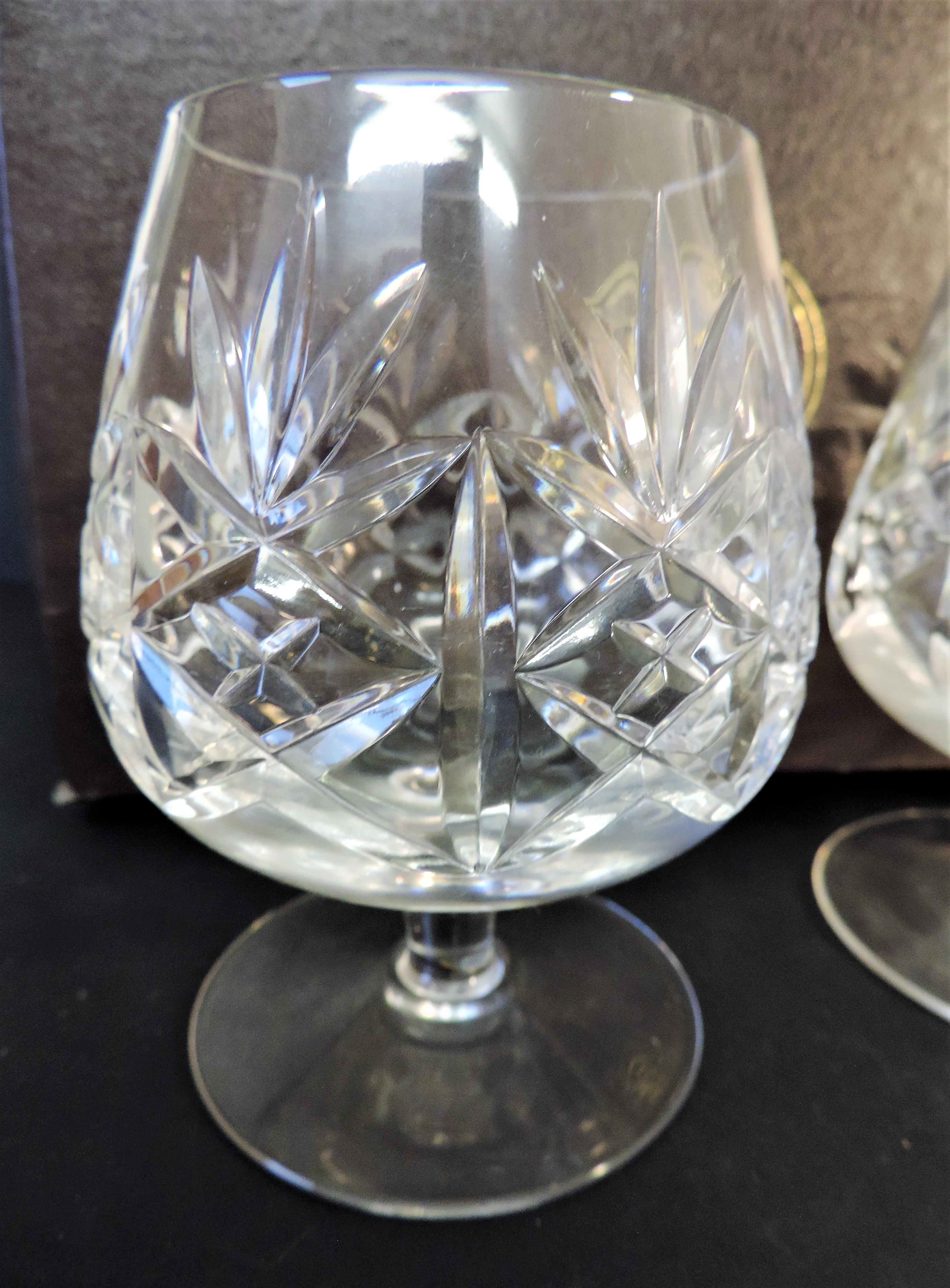 Thomas Webb Crystal Brandy Glasses & Decanter Drinks Set - Image 3 of 4