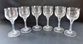 Set 6 Crystal Wine Glasses