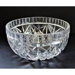 Vintage Heavy Cut Crystal Bowl 20cm Wide