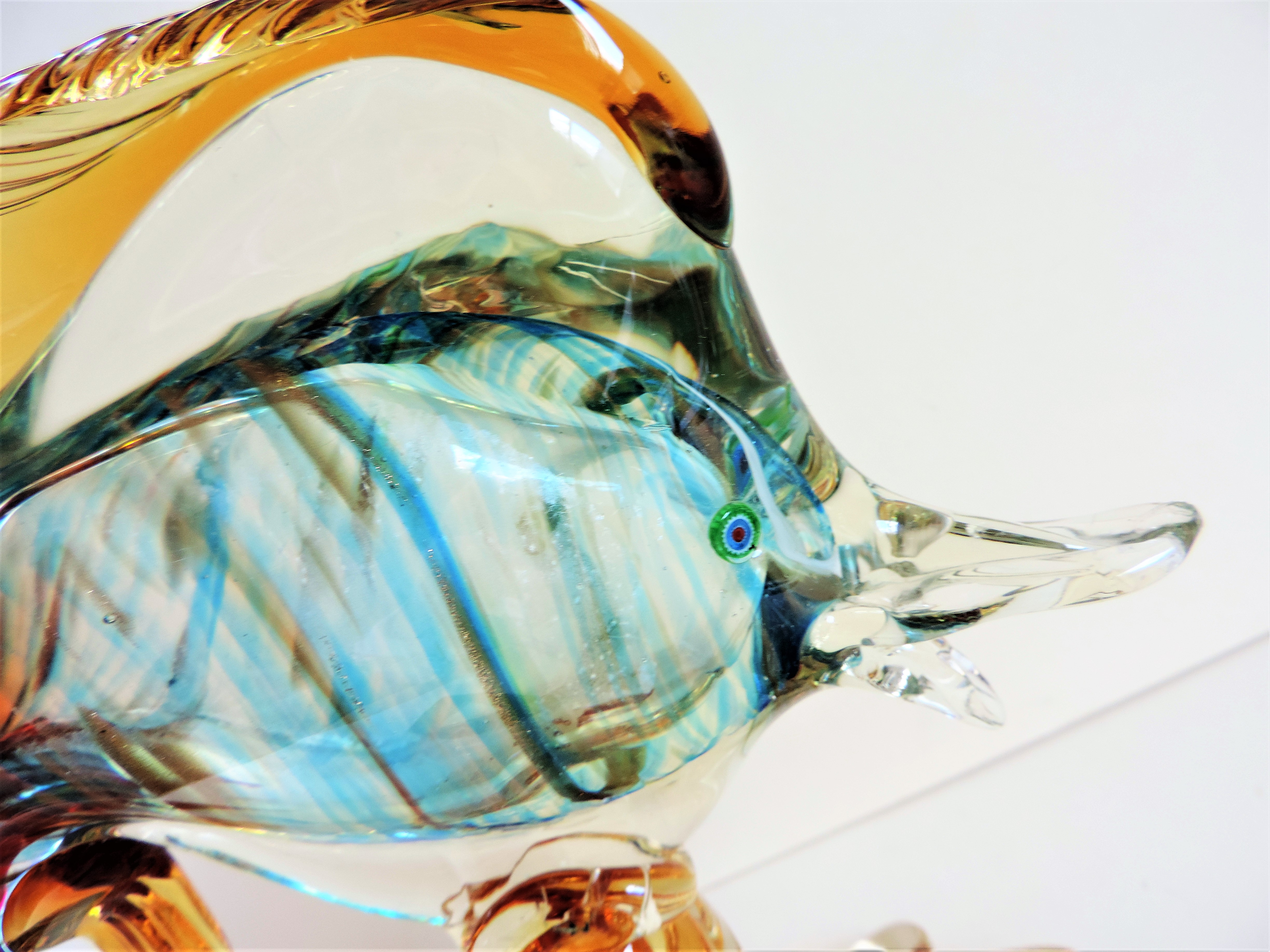 Vintage Murano Glass Fish Sculpture 28cm Tall - Image 7 of 7