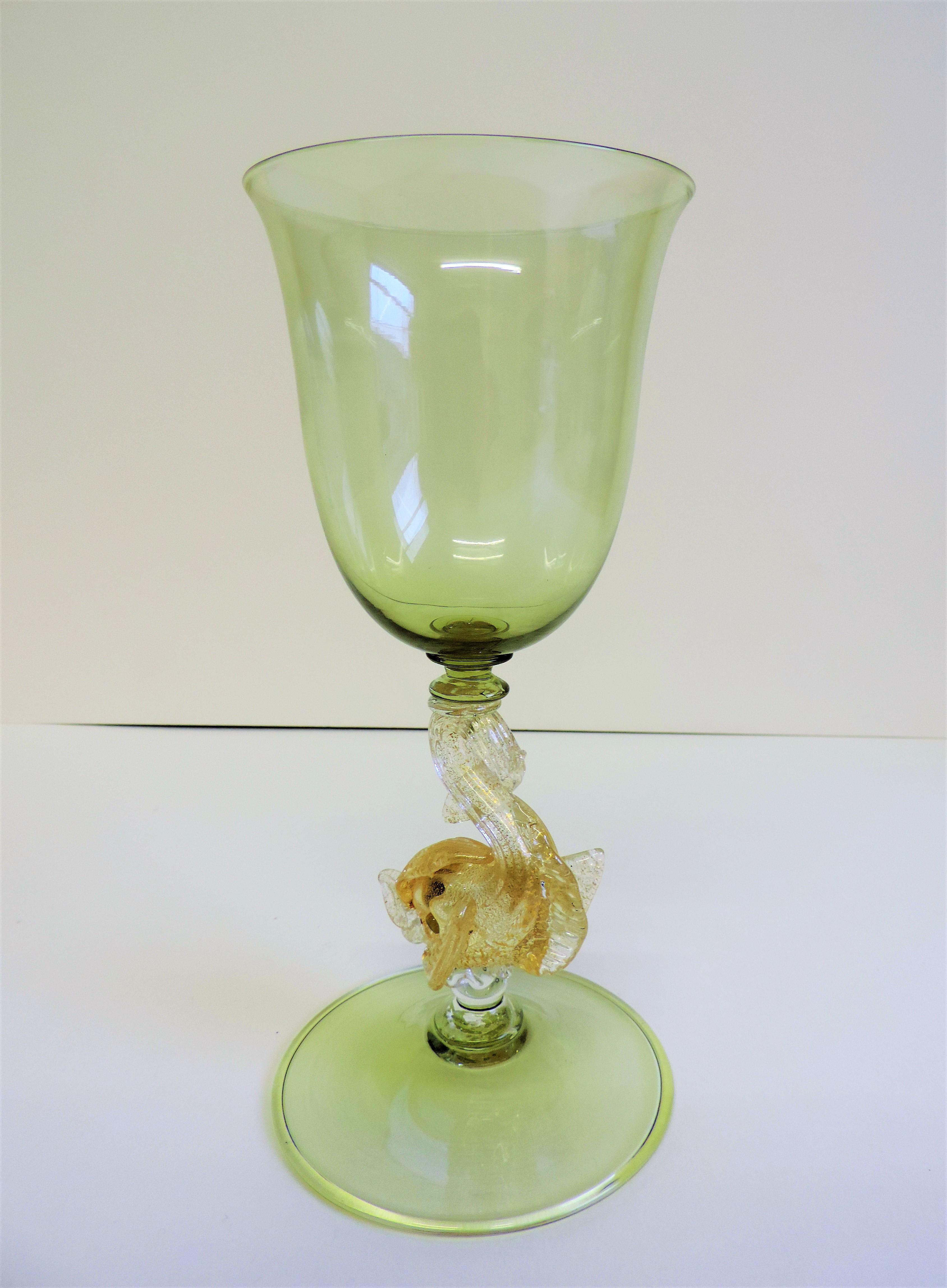 Vintage Murano Salviati Dolphin Wine/Champagne Goblet - Image 3 of 5