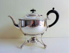 Antique Art Nouveau Silver Plated Spirit Kettle