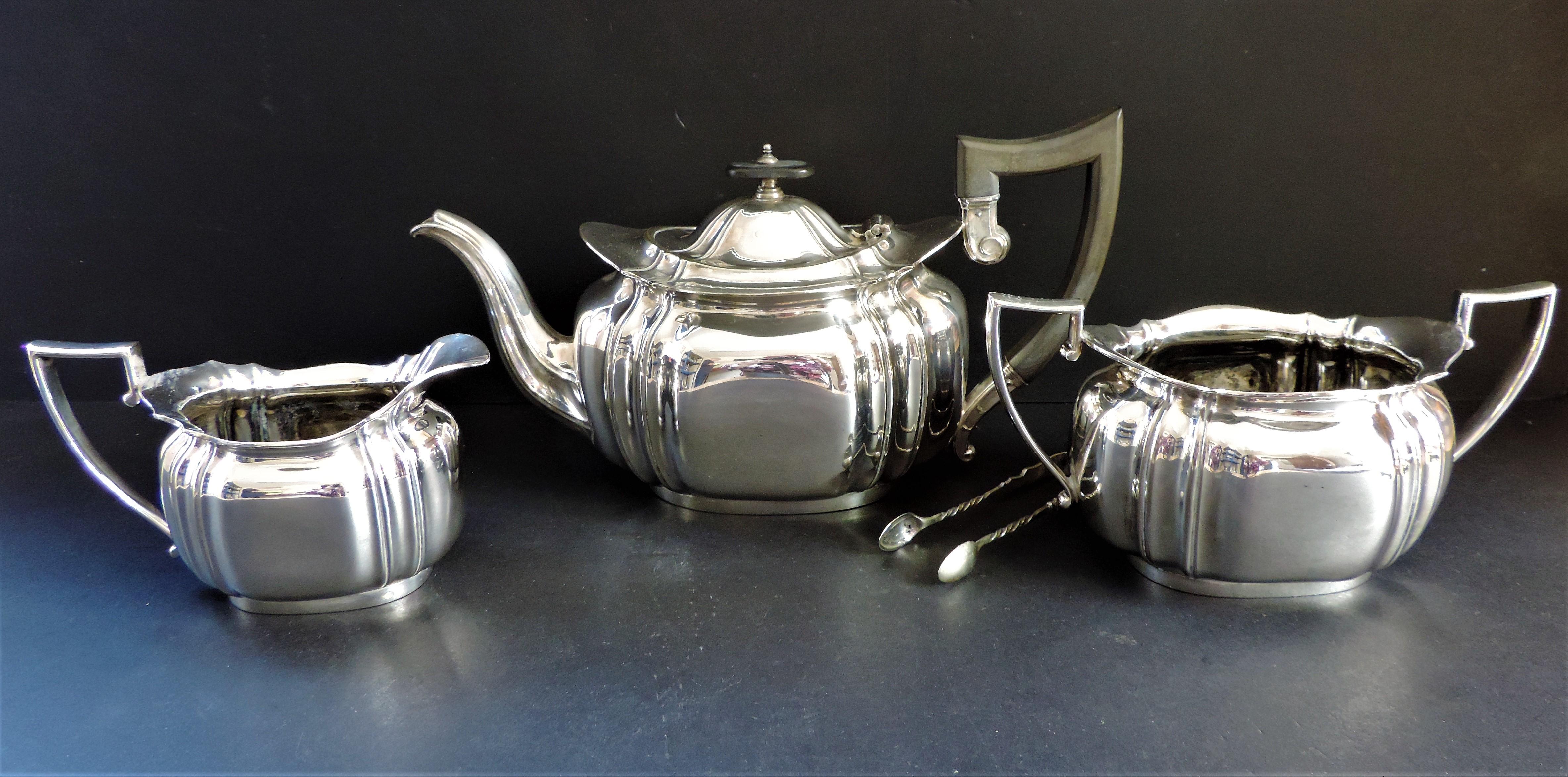 Antique Edwardian 4 Piece Silver Plated Tea Set circa 1900-1910
