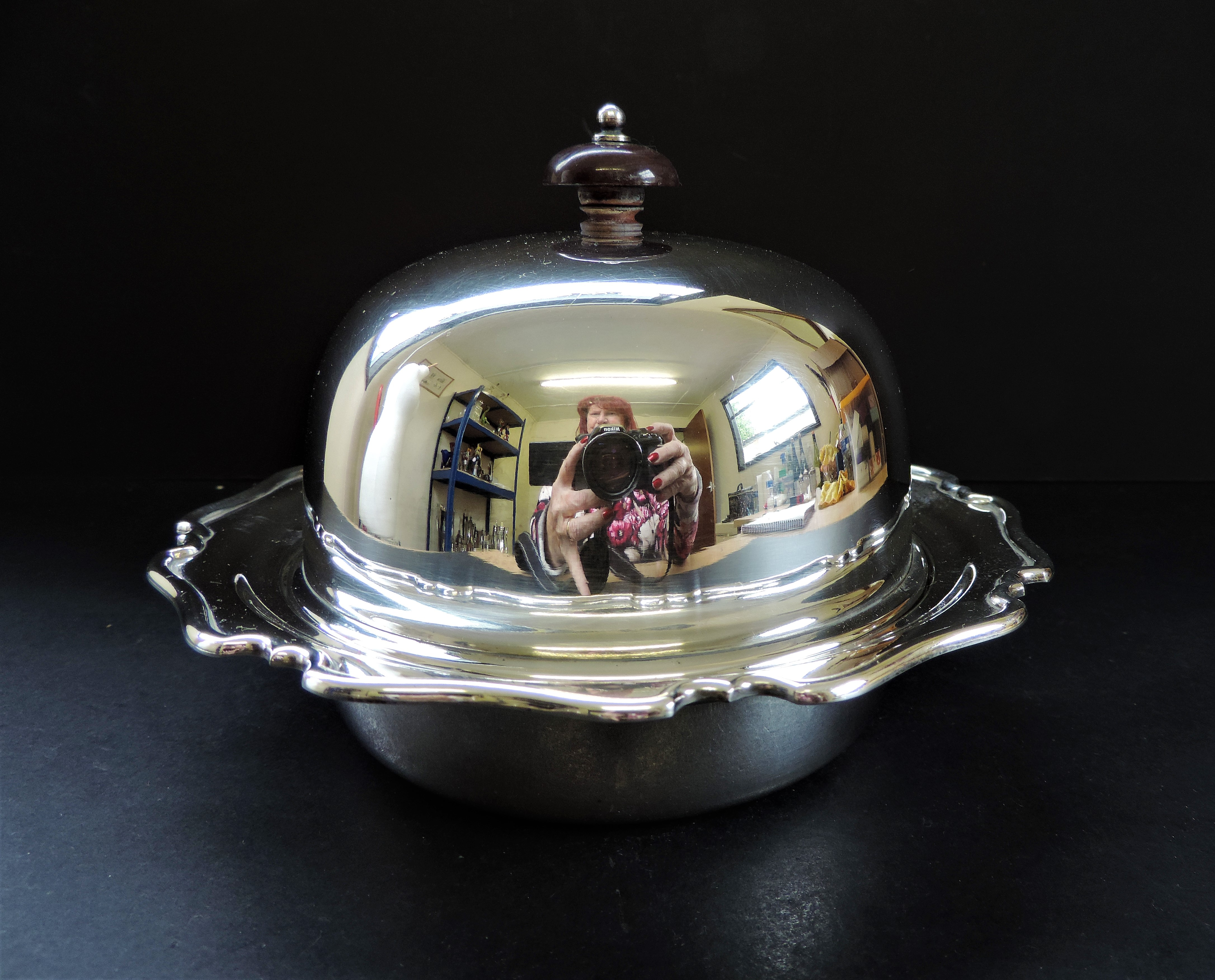 Antique Art Nouveau Silver Plated Muffin Dish/Warmer - Image 4 of 7