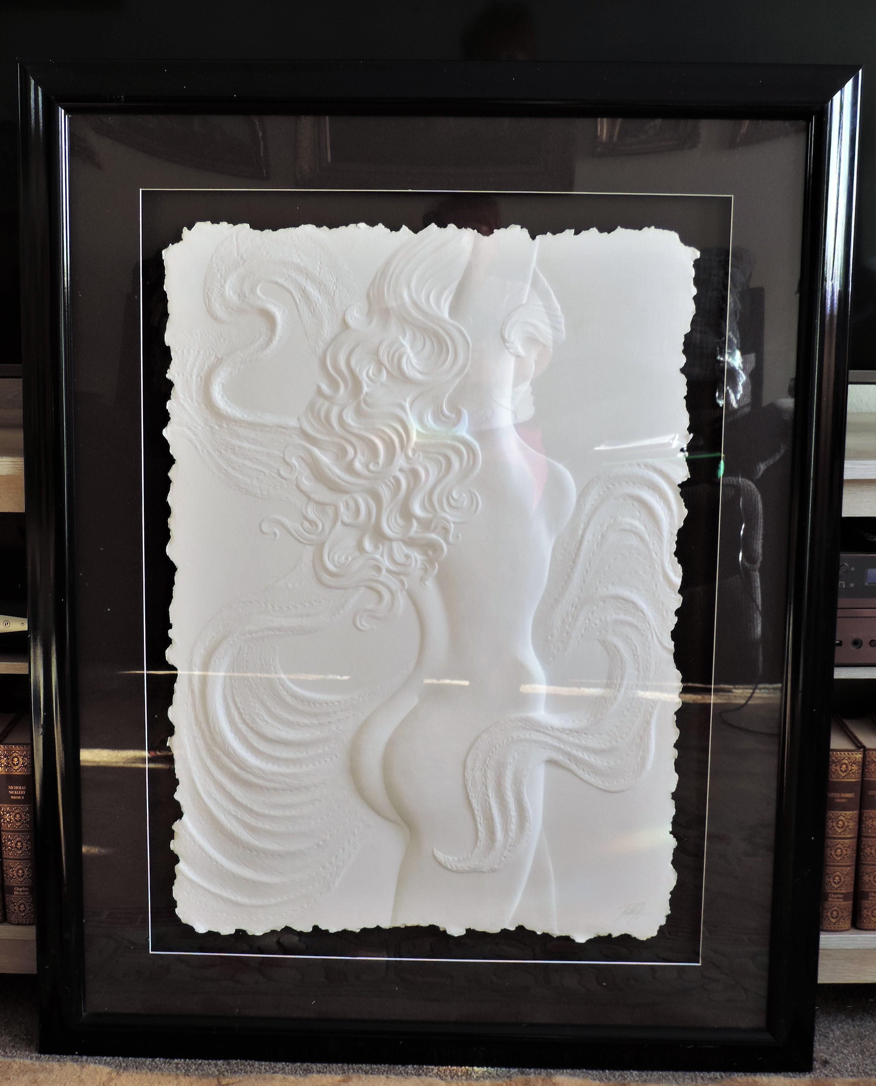 Roberta Peck 'Nude Dancer' Monotype Sculpture on Paper - Image 4 of 12