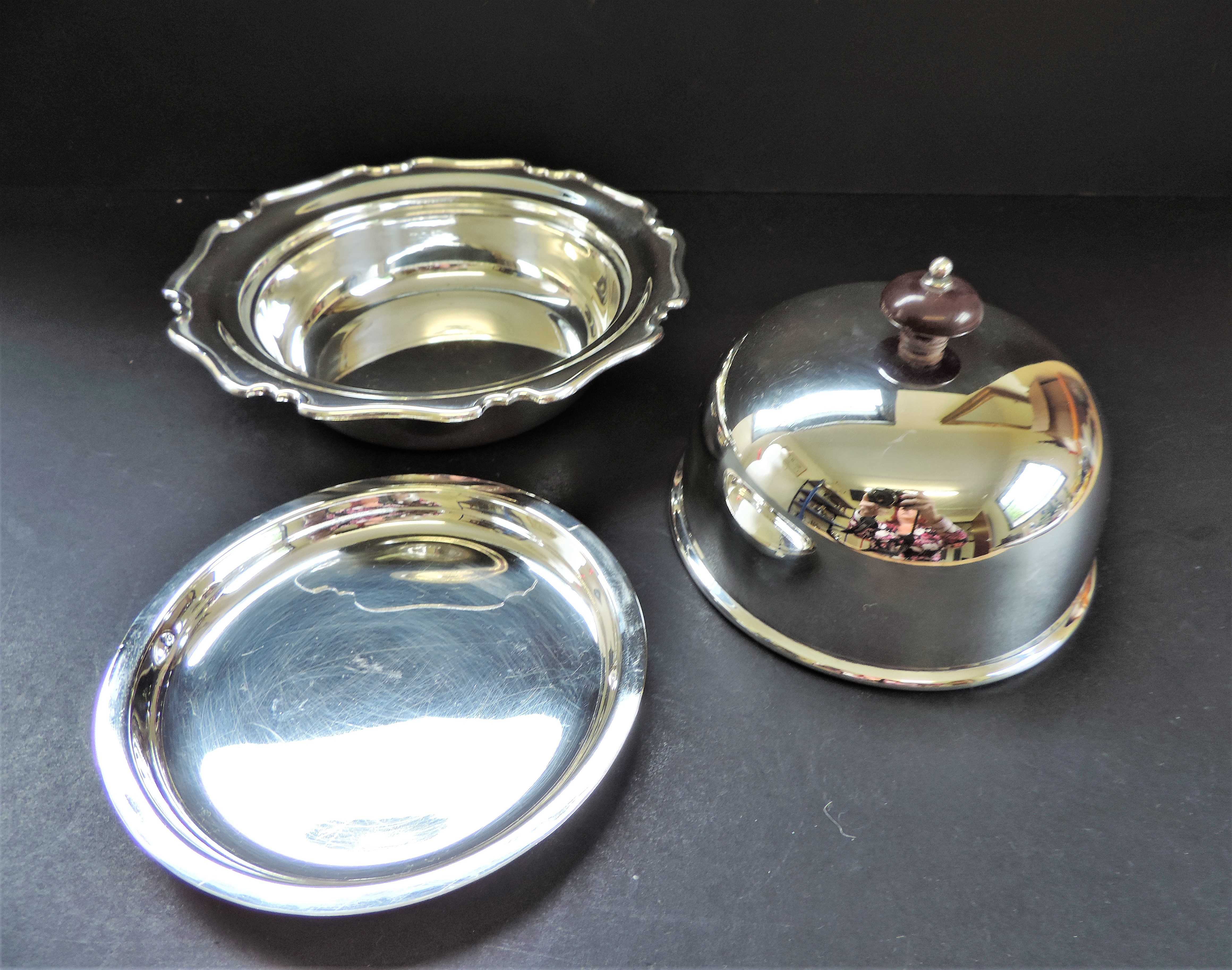 Antique Art Nouveau Silver Plated Muffin Dish/Warmer - Image 2 of 7