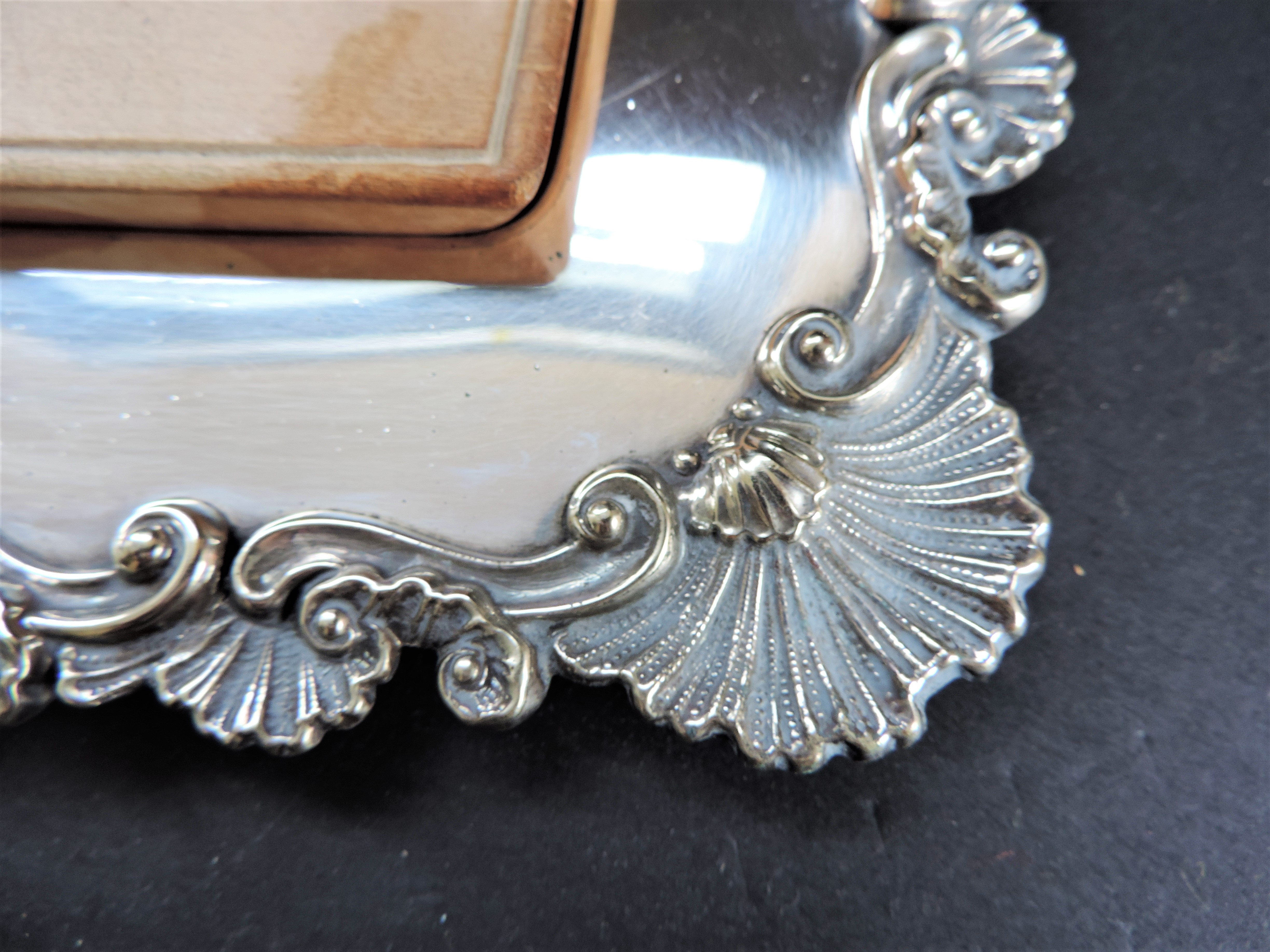 Antique Victorian Silver Plated Bread/Cheese Board Serving Set - Image 6 of 6