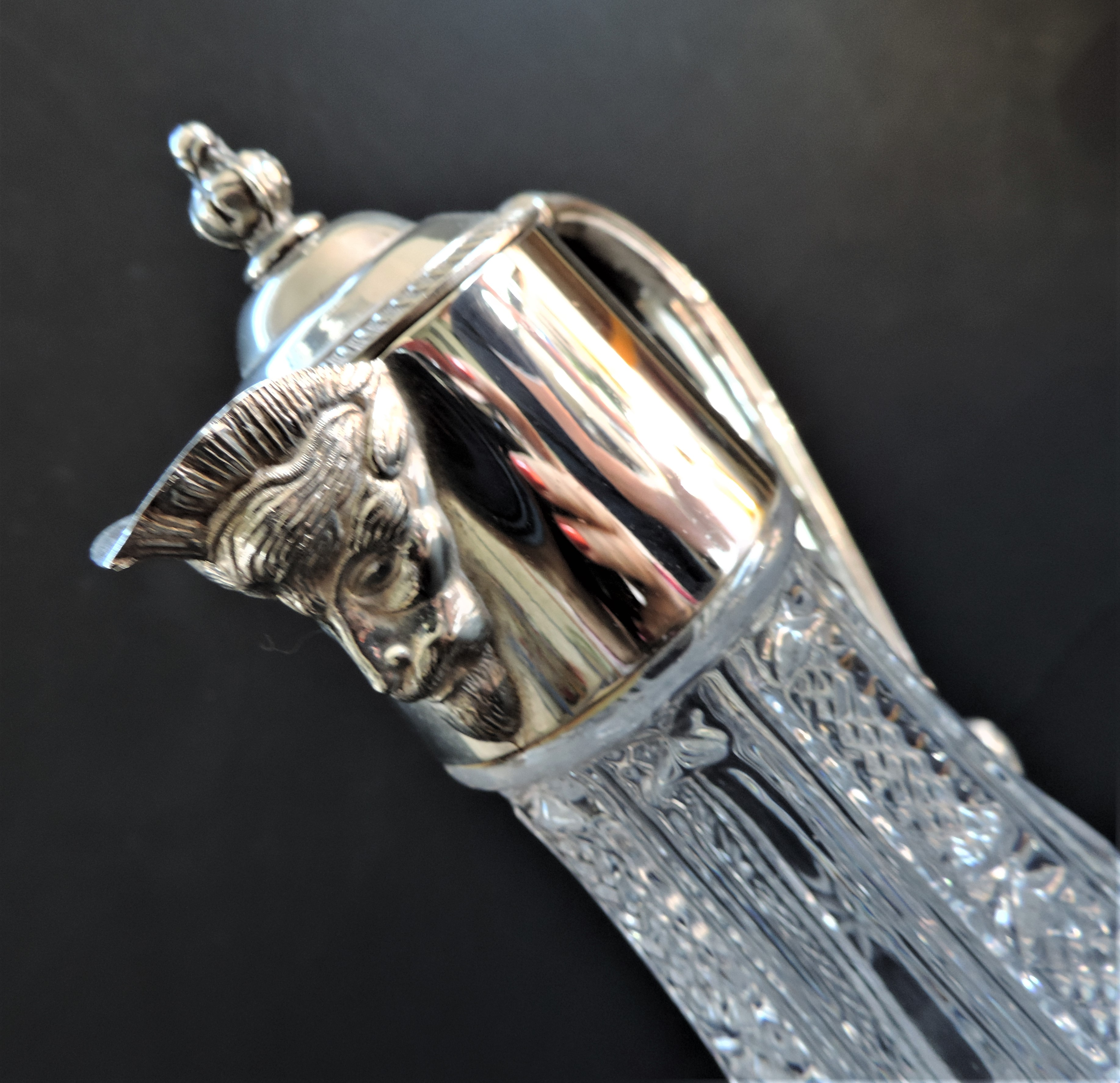 Hand-Cut Crystal And Silver Plate Bacchus Claret Jug - Image 4 of 4