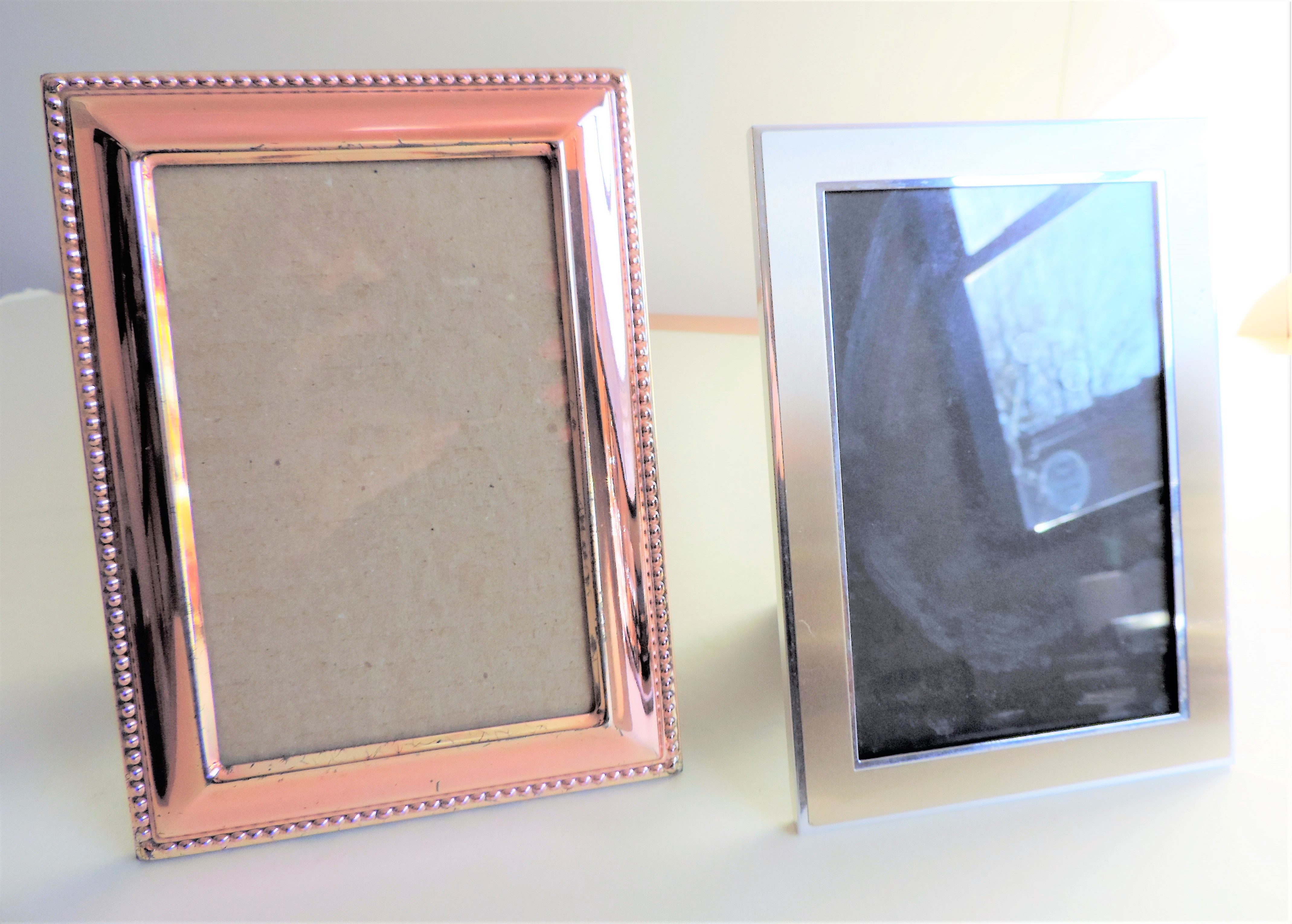 Pair of Silver Plated Photo Frames