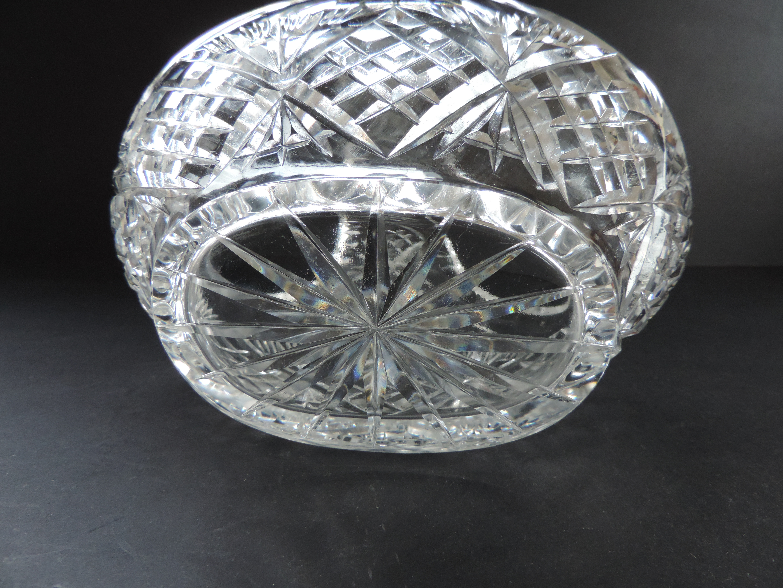 Vintage Crystal Bon Bon Basket - Image 3 of 3