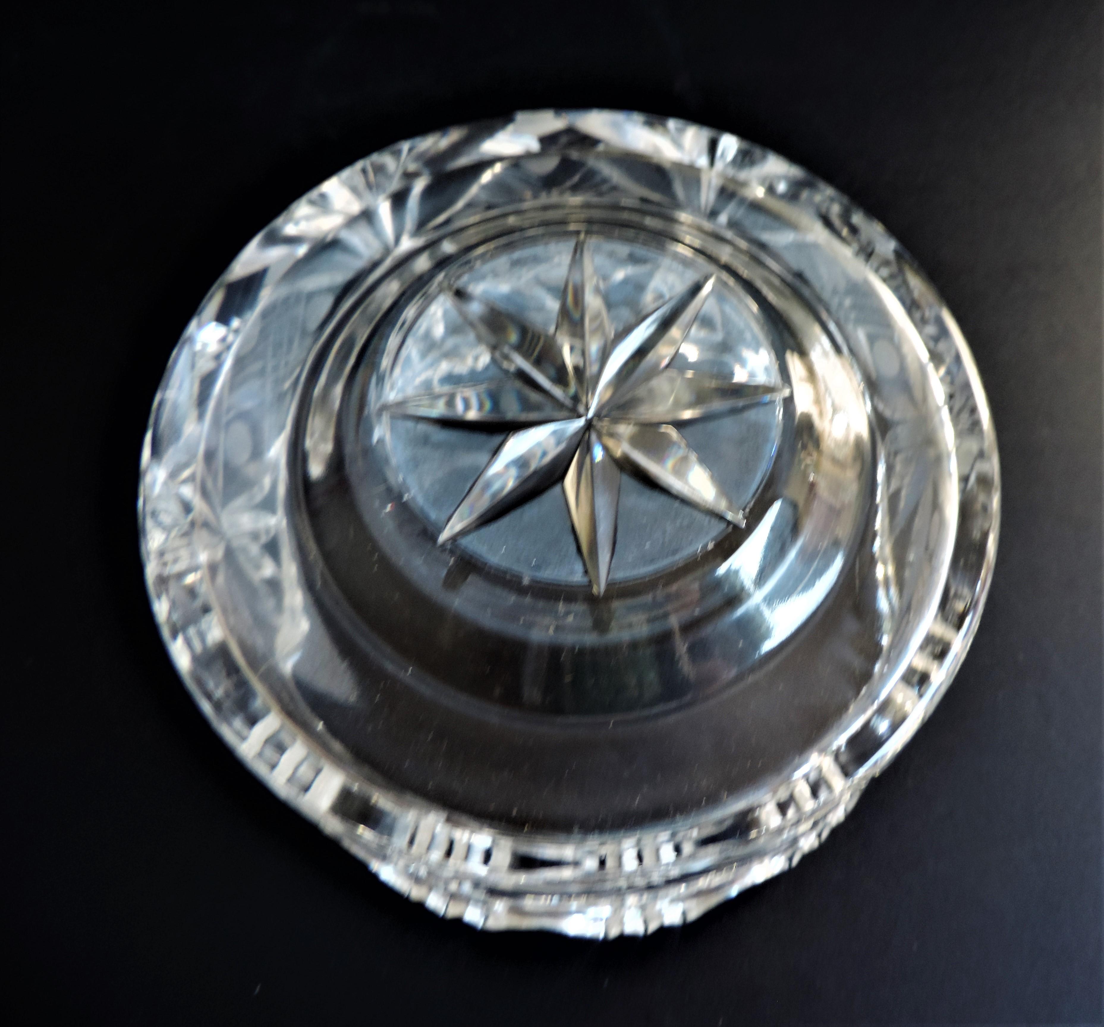 Vintage Bohemian Crystal Bowl - Image 3 of 4