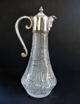 Hand-Cut Crystal And Silver Plate Bacchus Claret Jug