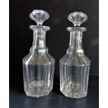 Pair Antique Georgian Glass Decanters