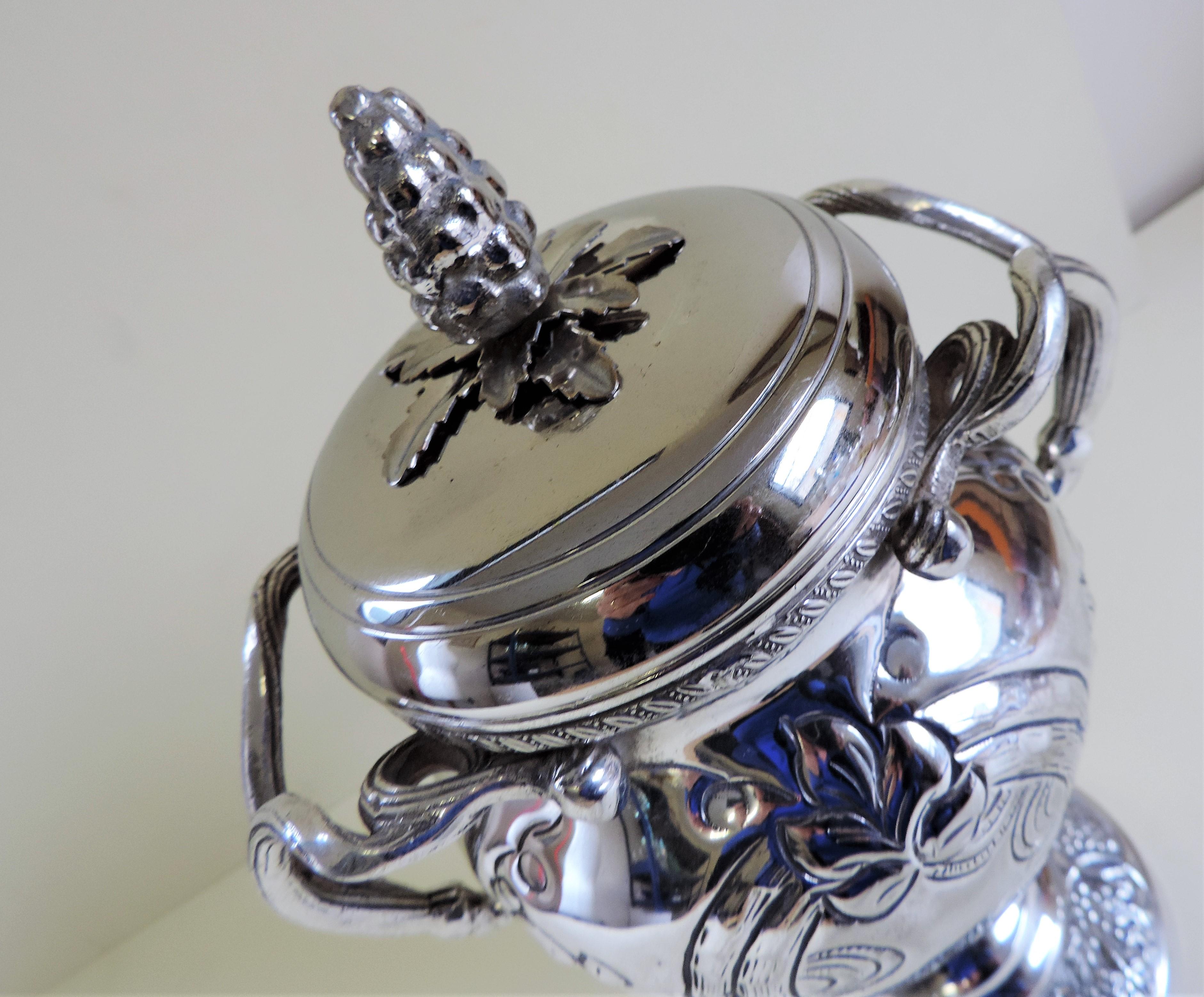 Antique Silver Plate Lidded Urn - Image 3 of 6