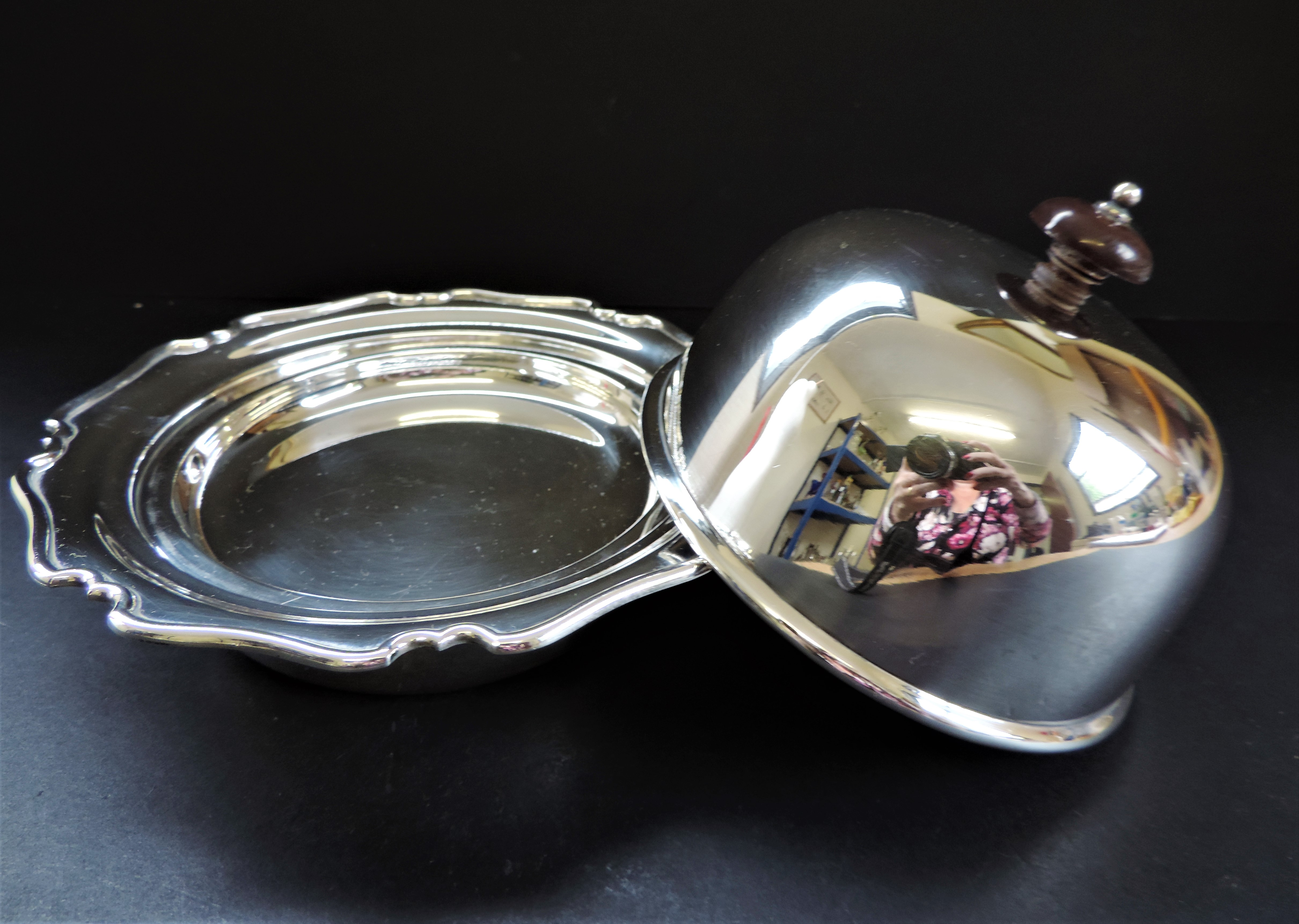 Antique Art Nouveau Silver Plated Muffin Dish/Warmer - Image 3 of 7