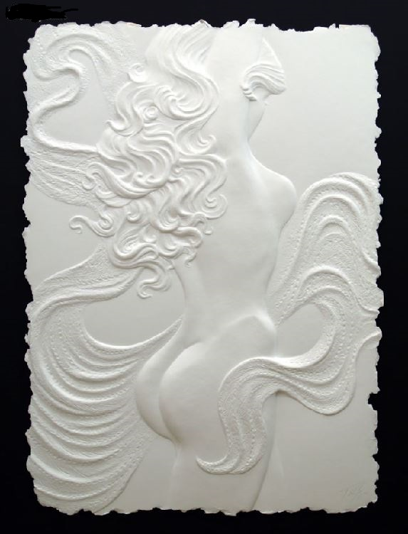 Roberta Peck 'Nude Dancer' Monotype Sculpture on Paper - Image 2 of 12