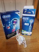 (R15I) Bathroom. 3 Items. 1 X Braun Oral B Pro 2 2000 & 1 X Braun Oral B Vitality Plus Electric Too