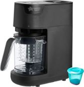 (R15I) Baby. 1 X Tommee Tippee Quick Cook Baby Food Maker Black (New)