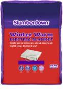 (R15C) Household. 2 X Slumberdown Winter Warm Electric Blanket Double (120x135cm approx.) New