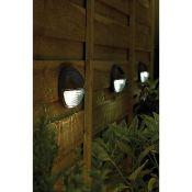 (R15D) Solar Lighting. 9 Items. 5 X White LED Solar Fence Lights 4 Pack, 2 X Solar Curtain String L