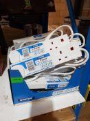 (R15A) Household / DIY. 12 X Staus Power Socket (4 Socket, 1 Metre, 12 Amp) All New