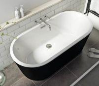 Modern Freestanding Bath Black 1500x700mm (AIF1001BLK)