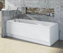 1700x700mm Single Ended Vitreous Enamel Pressed Steel Bath