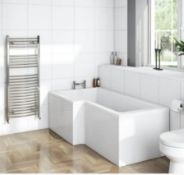1500x700x800mm LH Square Shower Bath With Front Panel