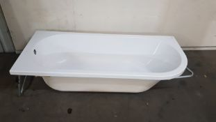 J Shaped 1700x750mm LH Single Ended Bath (Minor Surface Damage)