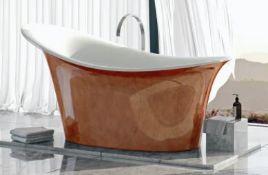 Belle De Louvain Fontana Metallic Effect Freestanding Bath 1800x800mm RRP £1599 (HY425CF06) (Damag