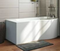 1700x700x850mm RH P Shaped Shower Bath With Front Panel