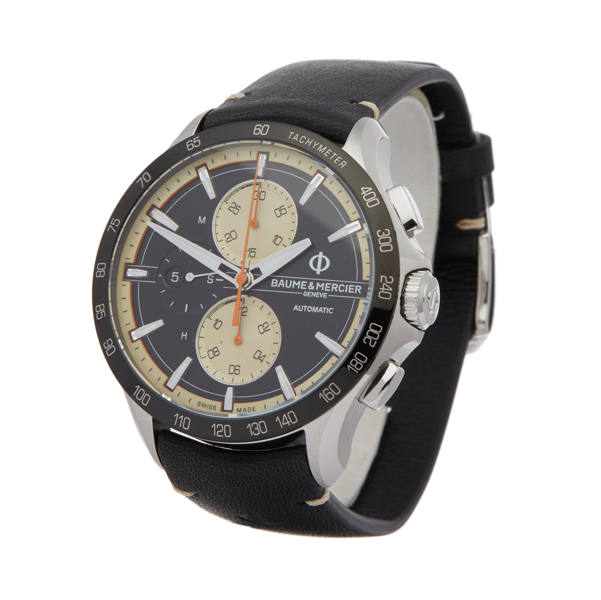 Baume & Mercier Clifton Club M0A10434 Men Stainless Steel Chronograph Watch
