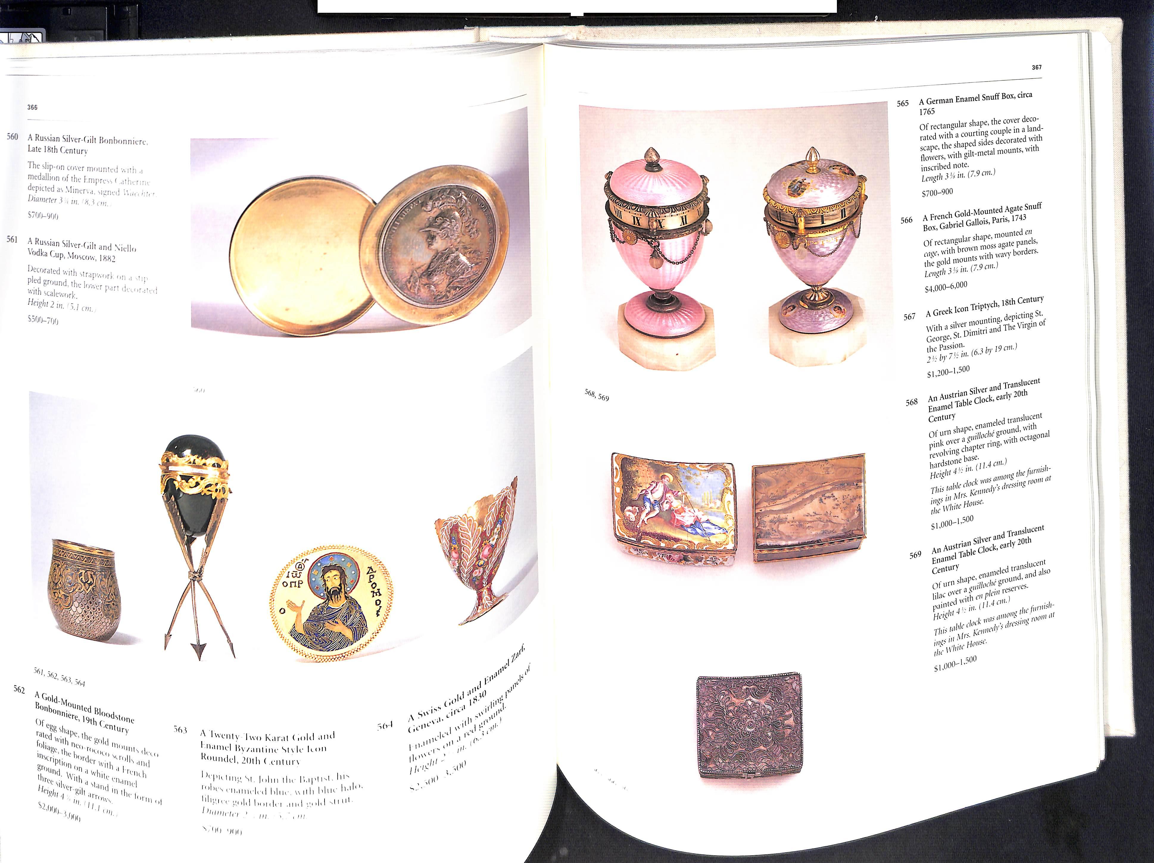 The Estate of Jacqueline Kennedy Onassis April 23-26 1996 Sothebys Hardback pages 584 - Image 5 of 10