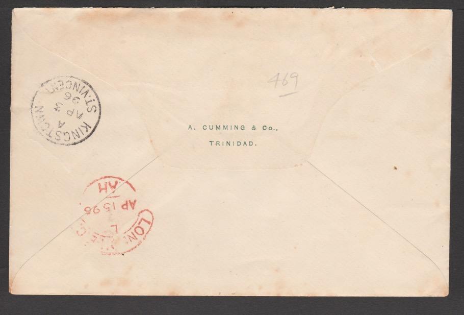 Saint Vincent / Grenada / Trinidad 1896 - Image 2 of 2