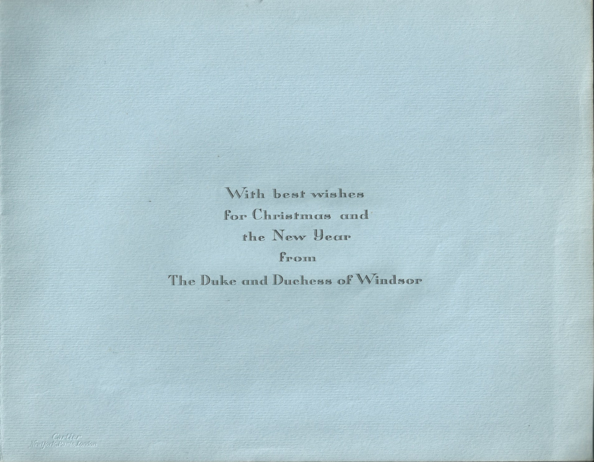 Royalty Duke And Duchess Of Windsor Christmas Card Cartier 1946 - Image 2 of 3