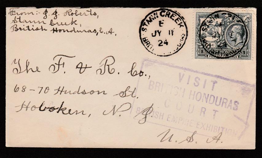 British Honduras 1924