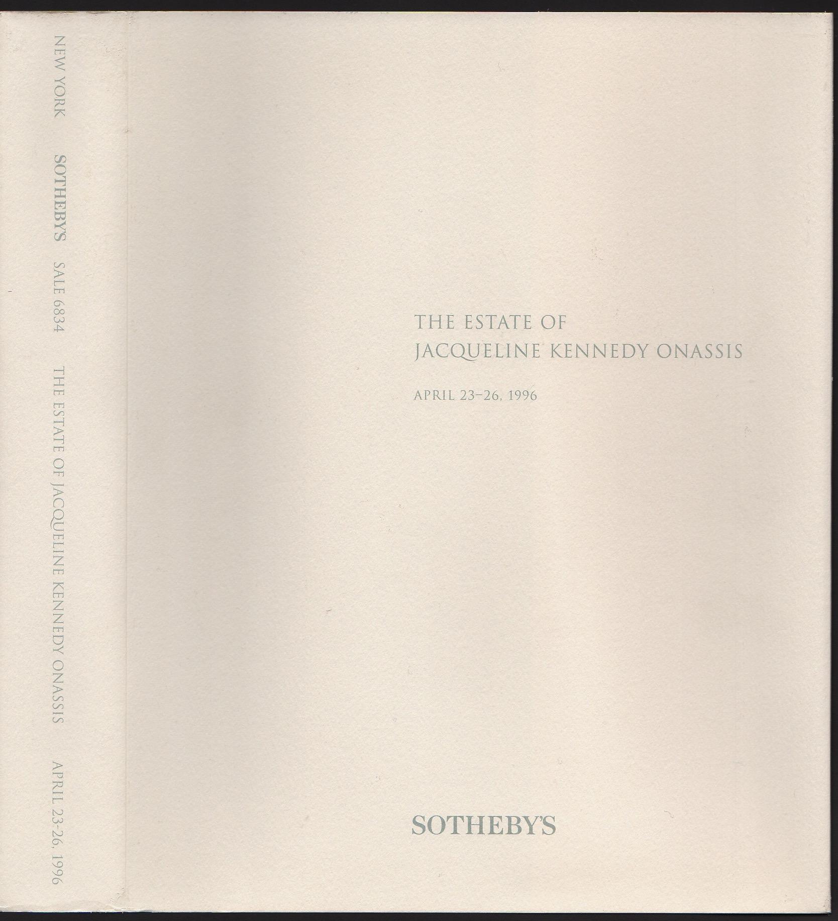The Estate of Jacqueline Kennedy Onassis April 23-26 1996 Sothebys Hardback pages 584 - Image 10 of 10