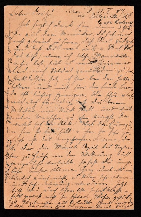 Cape of Good Hope / Danzig 1907 - Image 2 of 2