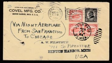 Air Mail/Samoa/United States 1924