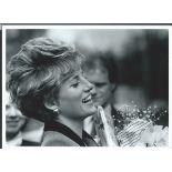 Royalty Fine Original Black & White Press Photo Of Princess Diana Laughing Flowers Fine Original Bl