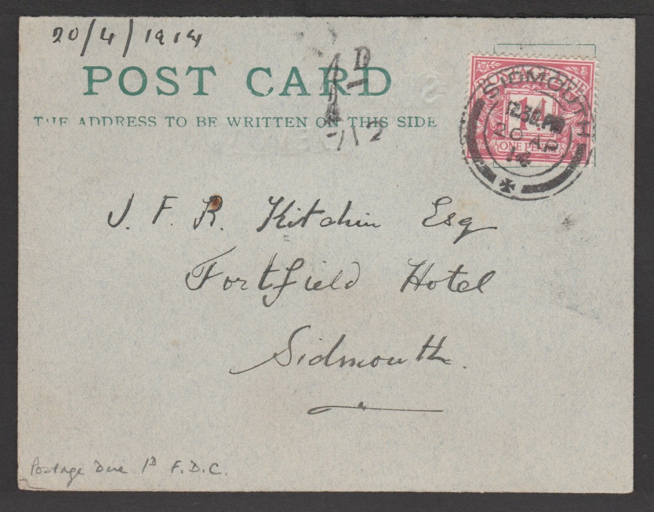 G.B - First Day Covers 1914 (Apr. 20)
