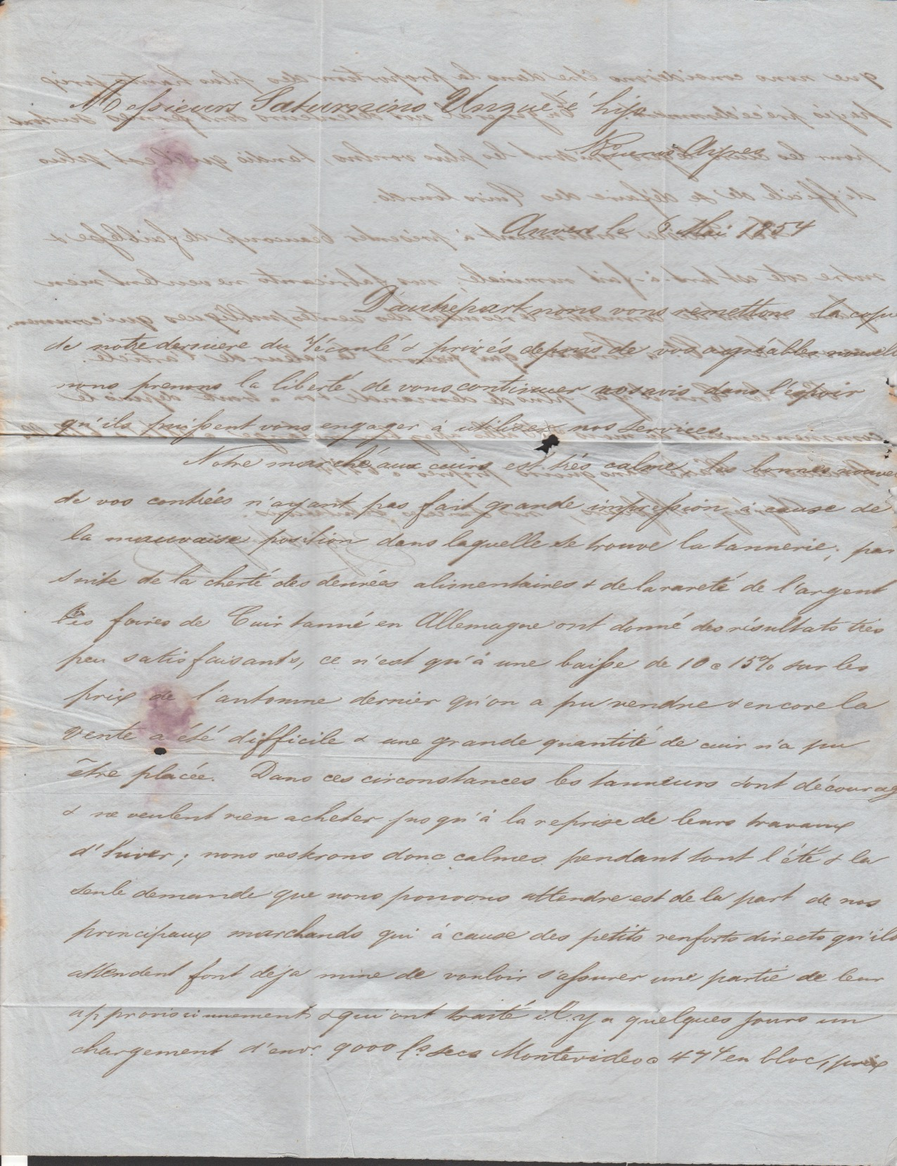 G.B. - London / Forwarding Agents 1854 - Image 3 of 4